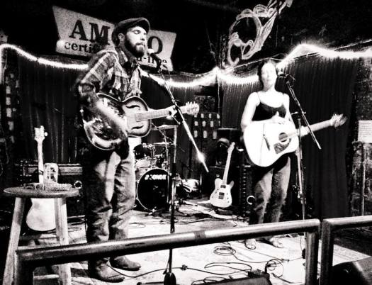 Dave Willis and Molly McGinn of Wurlitzer Prize at the Garage in Winston Salem.