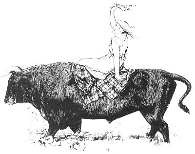 The Black Bull of Norroway is the story of a woman who climbs a glass hill for seven years to apprentice to love.