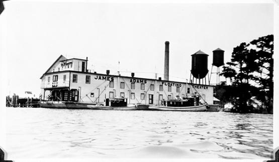 James Adams Floating Theater docked in Elizabeth City, NC